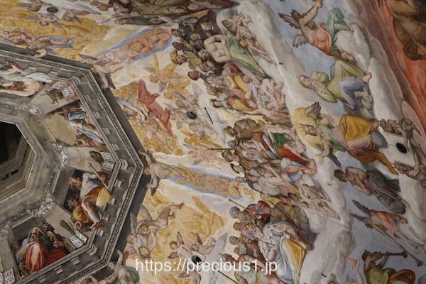 フィレンツェのドゥオーモのフレスコ画、拡大