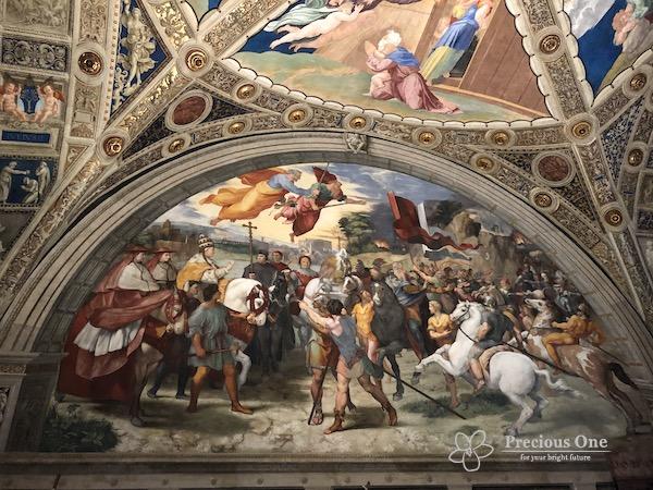 ヴァチカン美術館内ラファエロの間の教皇レオとアッティラの会談