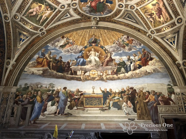 ヴァチカン美術館内ラファエロの間の聖体の論議